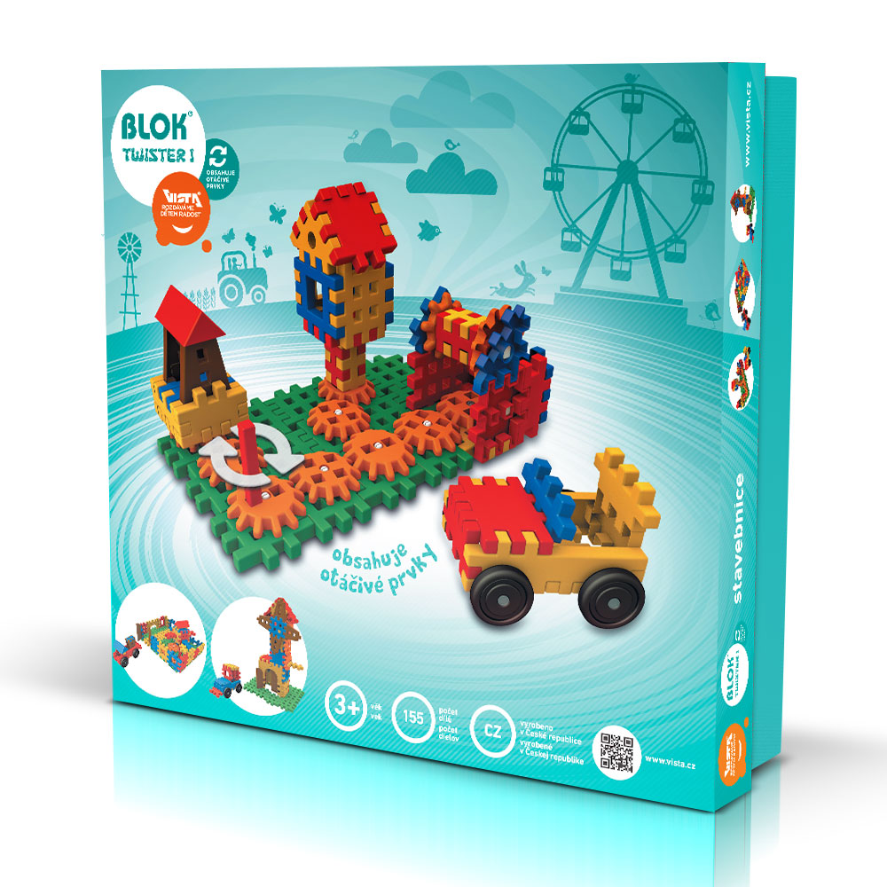 BLOK TWISTER 1 - Smart Building Toys for Smart Kids