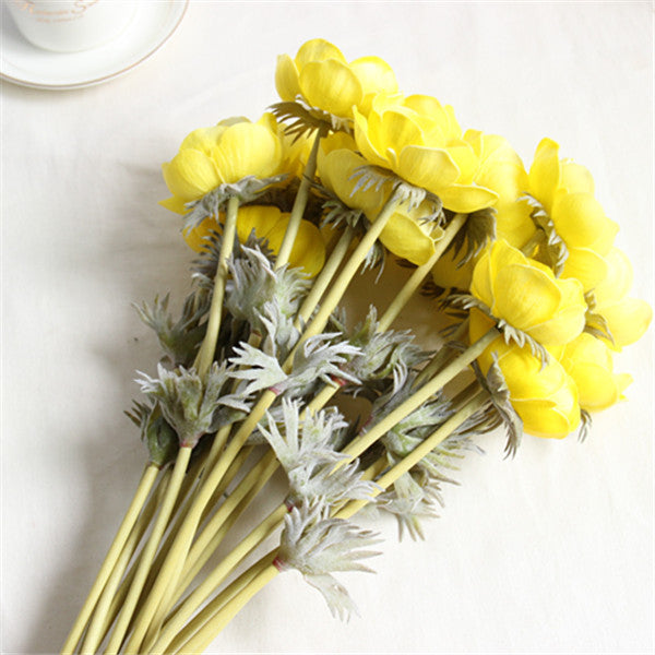 Real touch anemone flowers 24pieces yibo crafts artificial anemone flowers silk anemone flower mightylinksfo