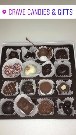 Assorted Box of 16 Freshly Made Gourmet Chocolates