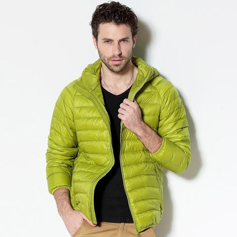 Men's Ultra Light Hooded Down Jacket