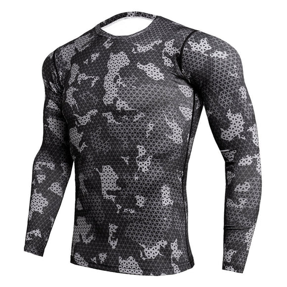 Long Sleeve Camo Compression Shirt