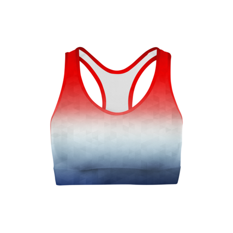 SagaFit™ Patriotic Triangles Sports Bra