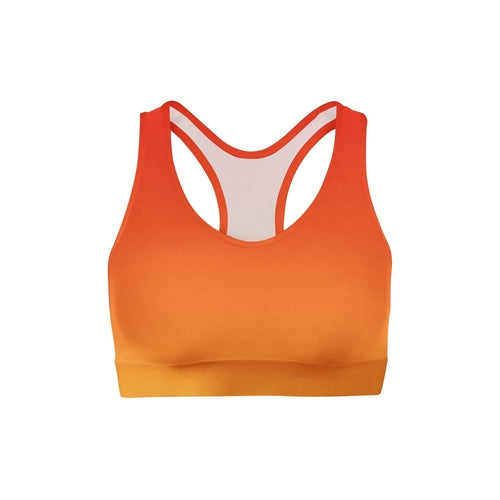 SagaFit™ Red Yellow Ombre Sports Bra