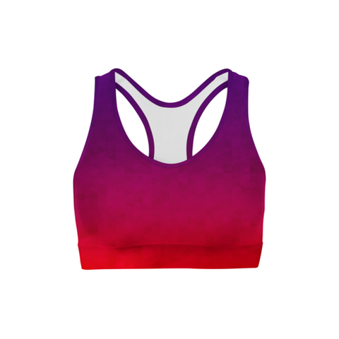 SagaFit™ Stained Triangles Sports Bra