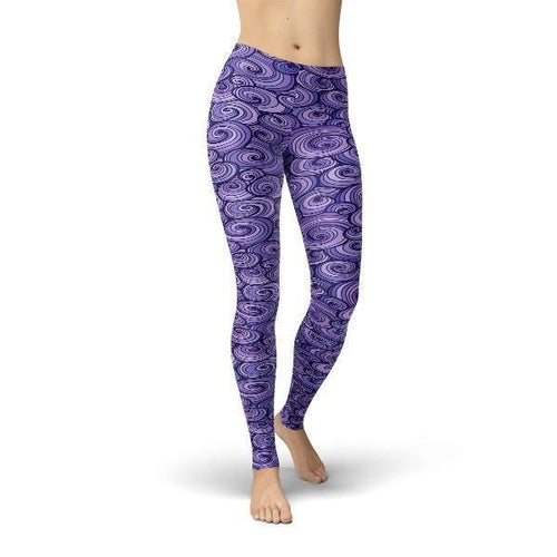 SagaFit™ Purple Swirls Leggings