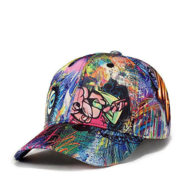 Graffiti Print Sports Cap