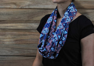 Infinity Scarf - Blue Red