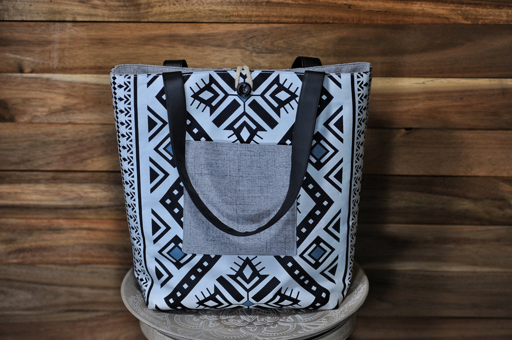 Reversible Tote Bag - Black and White