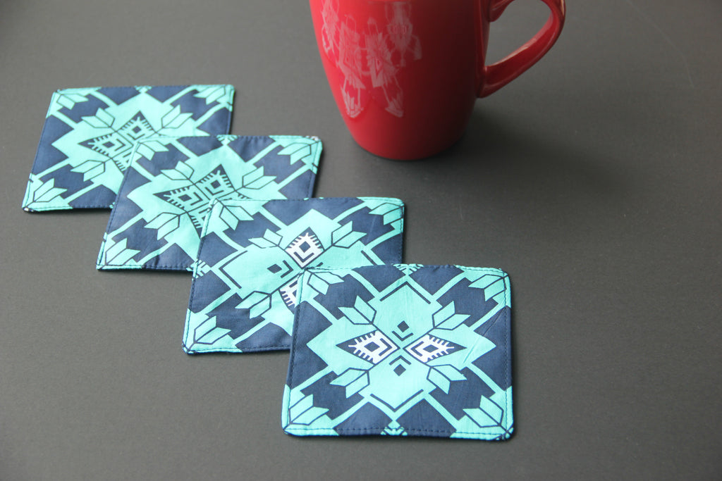 Coasters - Blue Teal