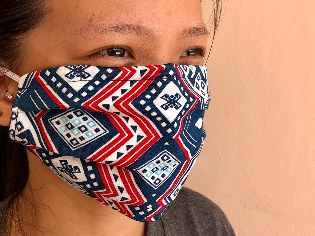 Reusable Face Mask - Blue Red