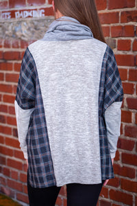 Plaid Fantasy Turtleneck Sweater
