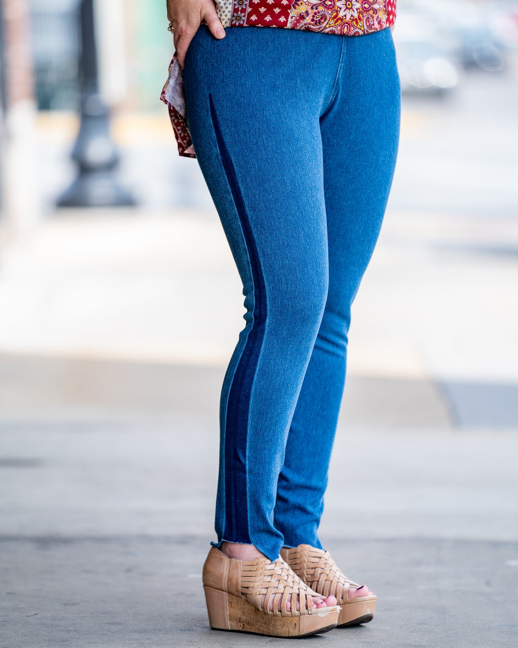 Gwen Mixed Wash Legging