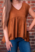 Suede Margot Top