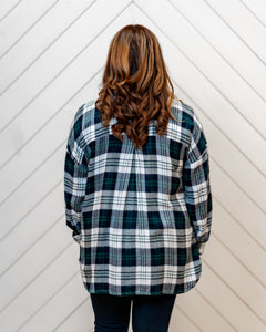 Collier Flannel Buttondown Top