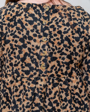 Cheetah Button Detail Top