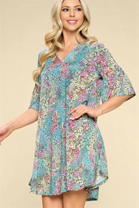 Floral Patches Dress