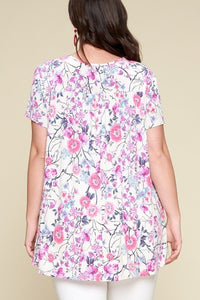 Curvy May Flowers Top
