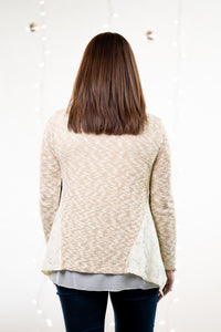 Eyelet Trimmed Sweater