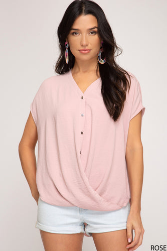 Wrap Me Up Rose Top