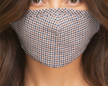 Plaid Face Mask w/Nose Piece & Filter Pocket