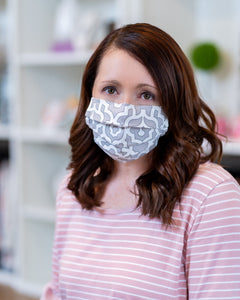 Women's Face Mask-Nose Piece & Filter Pocket