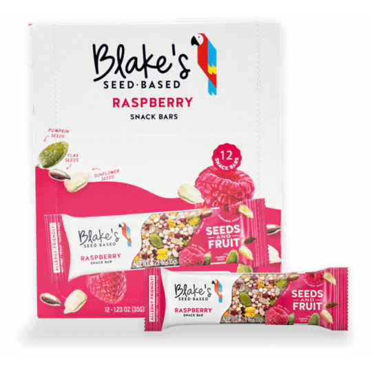 Raspberry Snack Bars - Box of 12 - Blake's Nut Free