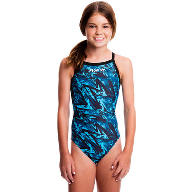 Girls Funky Swimsuit - Derezzed