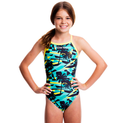 Girls Funky Swimsuit - Tropic Thunder