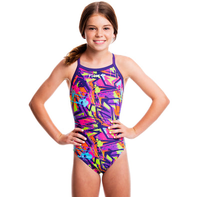 Girls Funky Swimsuit - Hyperactive