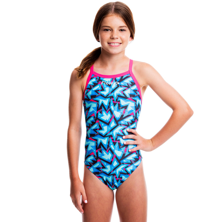 Girls Funky Swimsuit - Maze Craze