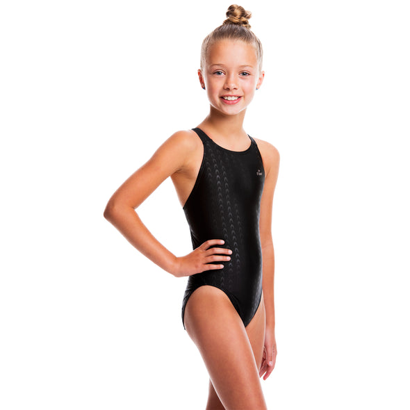 Girls Accelerate Swimsuit - Black