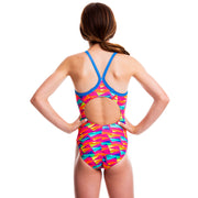 Girls Funky Swimsuit - Tessellate