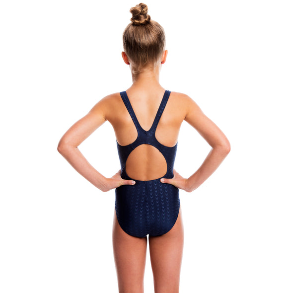 Girls Accelerate Swimsuit - Navy