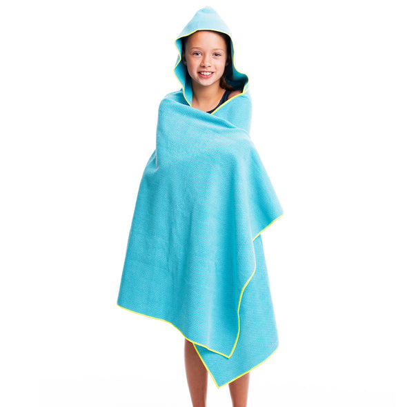 Hooded Microfiber Towel - Blue