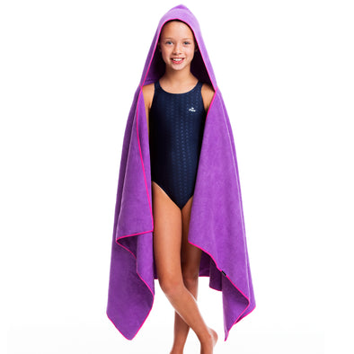 Hooded Microfiber Towel - Purple