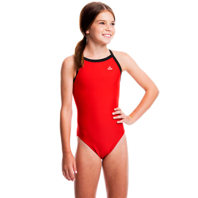 Girls Ignite Swimsuit - Red/Black