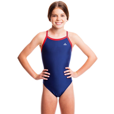 Girls Ignite Swimsuit - Blue/Red