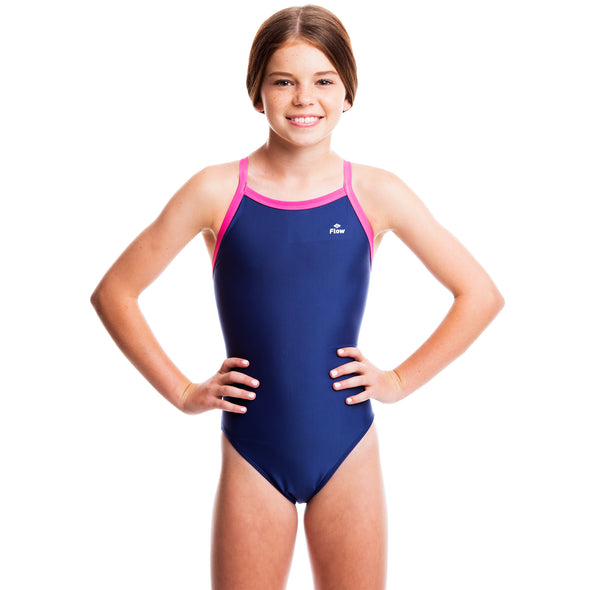 Girls Ignite Swimsuit - Blue/Pink