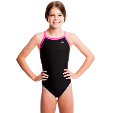 Girls Ignite Swimsuit - Black/Pink