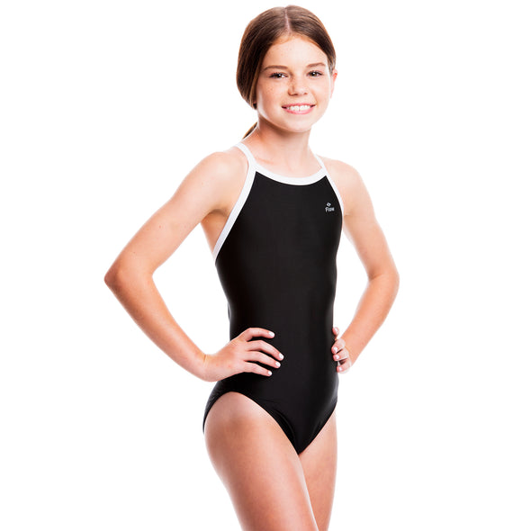 Girls Ignite Swimsuit - Black/White