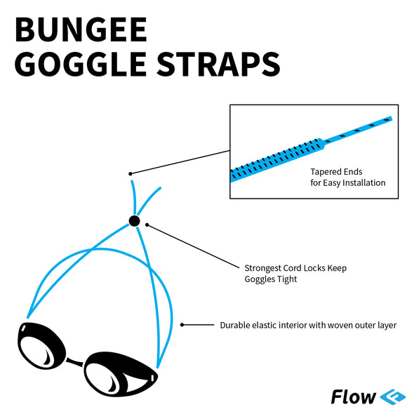 Goggle Bungee Straps - Pink