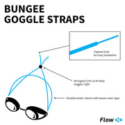 Goggle Bungee Straps - Solid Red