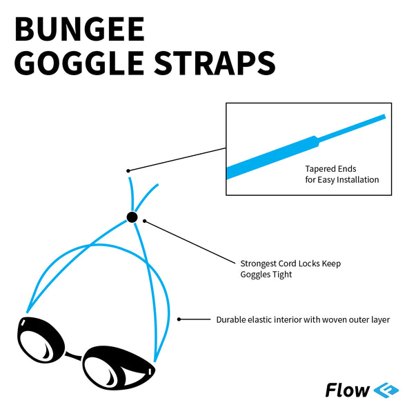 Goggle Bungee Straps - Solid Yellow