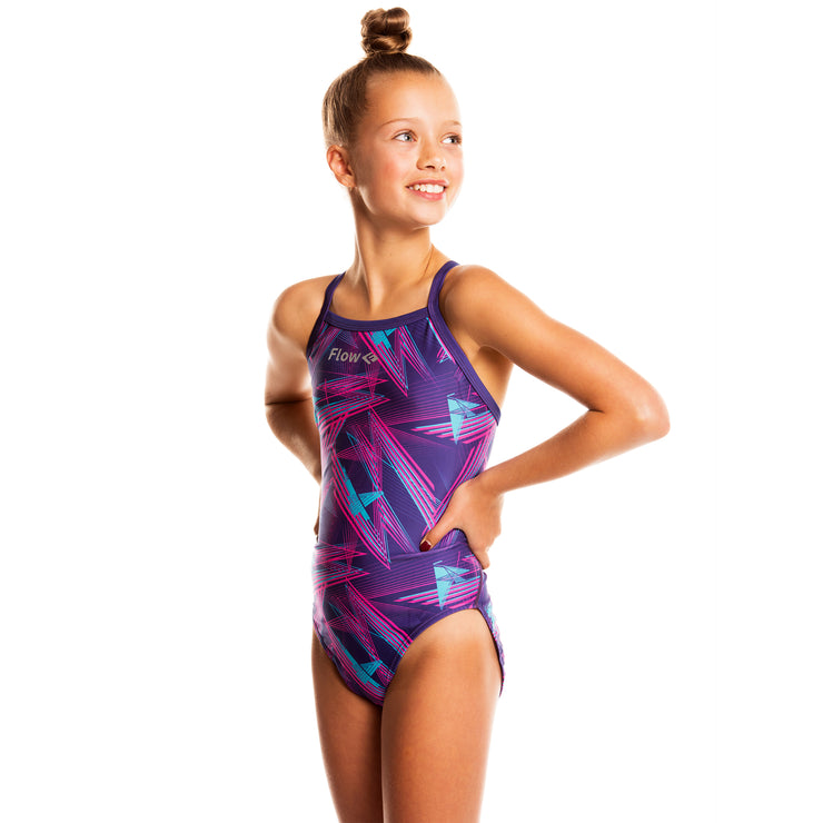 Girls Funky Swimsuit - Laser Tag