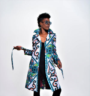 Scroll Trench Coat