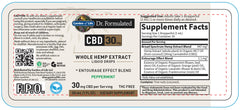 Garden of Life | Dr. Formulated CBD Oil 30mg Peppermint Drops | 1 oz
