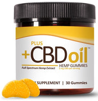 PlusCBD Oil | CBD Oil Gummies - Citrus Punch | 30 - 60 Gummies