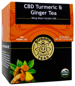 Buddha Teas | CBD Turmeric and Ginger Tea | 36 Gram