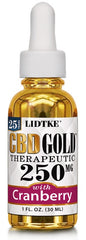 Lidtke/CBD | CBD GOLD with Cranberry 250mg | 1 oz (30 ml)