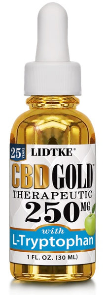 Lidtke/CBD | CBD GOLD with L-Tryptophan 250mg | 1 oz (30 ml)